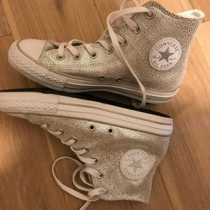 Converse high tops - Rockin cool Silver! New